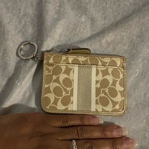 Coach keychain coin holder